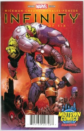 Infinity #1 Brooks NYCC Midtown Retailer Thanos Variant (2013) Marvel comic book